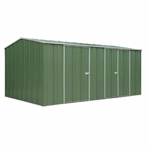 Yardstore g1510 best cheap garden shed steel building for Extra large metal sheds