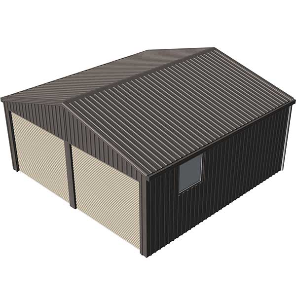 Double Garage 6x6 Jasmine Brown | Spanbilt Direct