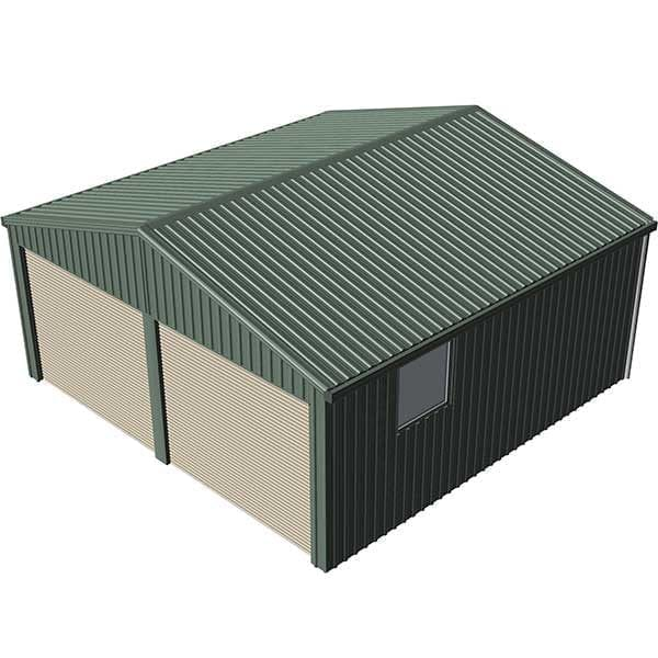 Double Garage 6x6 Mist Green | Spanbilt Direct