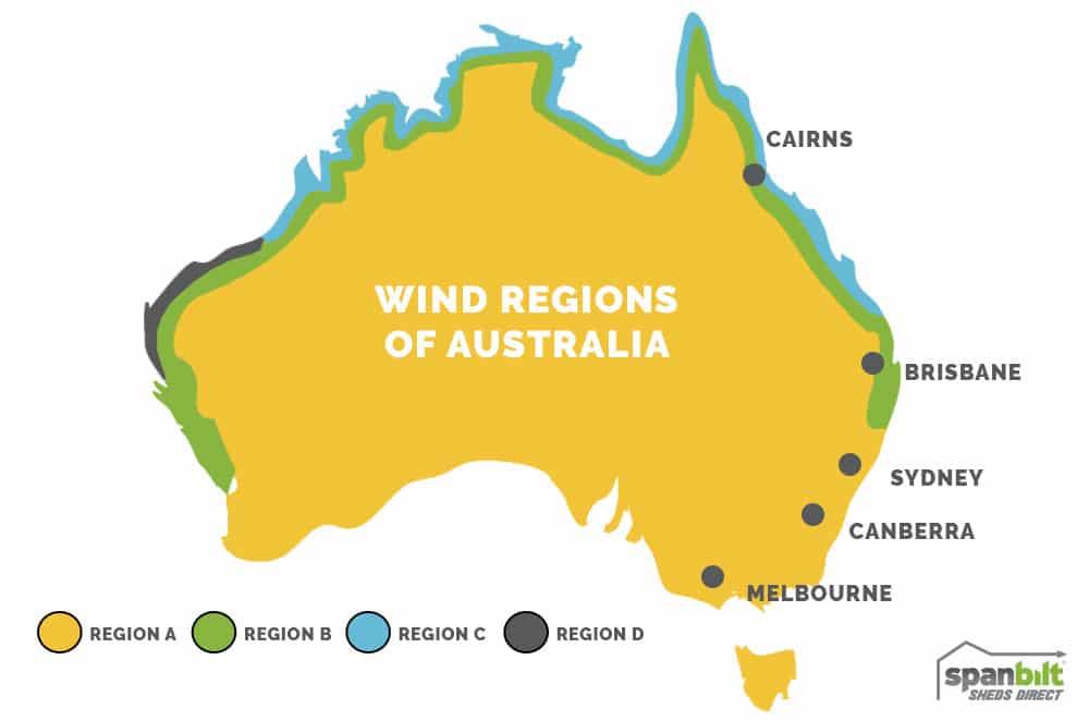 Wind Regions Australia | Spanbilt Direct