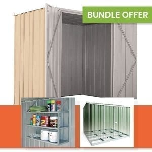 F63 Garden Shed Bundle - Smooth Cream