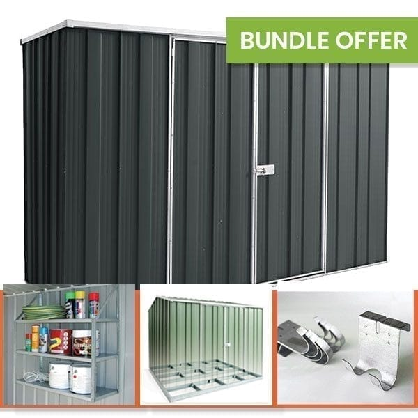F83 Garden Shed Bundle - Slate Grey