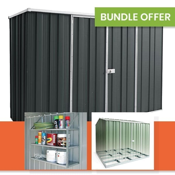 F83 Garden Shed Bundle | Slate Grey