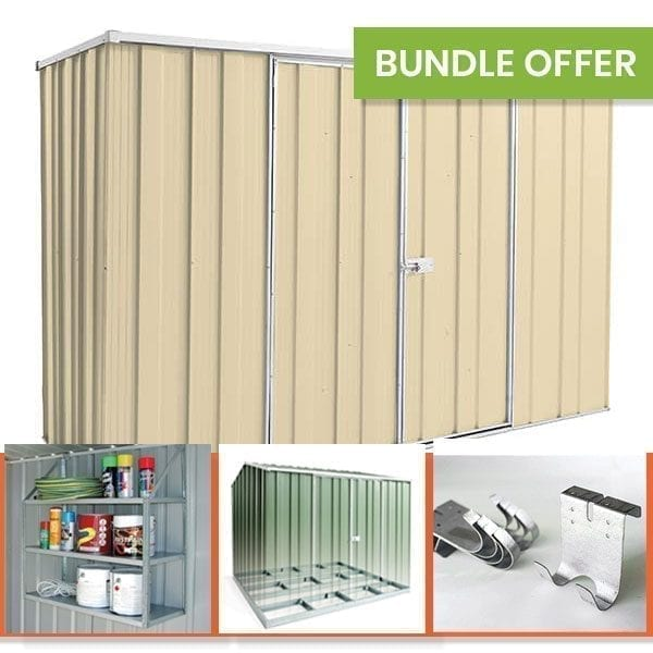 F83 Garden Shed Bundle - Smooth Cream