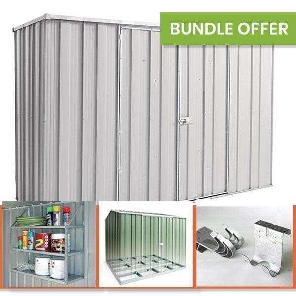 F83 Garden Shed Bundle - Zinc