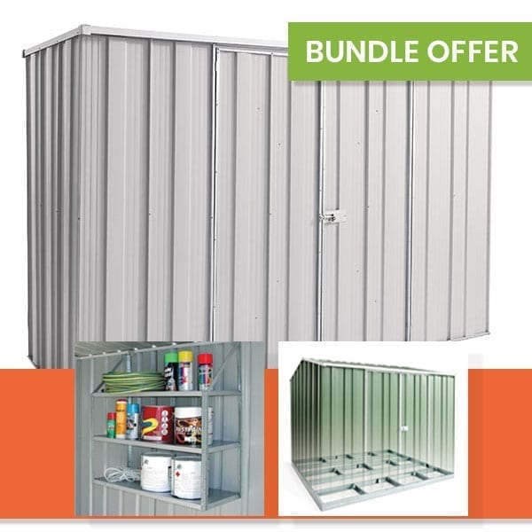 F83 Garden Shed Bundle | Zinc