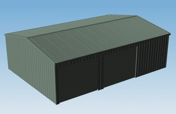 Economy Double Garage with Workshop 8.69m wide x 6.0m